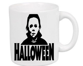 Michael Myers Halloween Zombie Horror Mug Coffee Cup Gift Home Decor Kitchen Bar Gift for Her Him Merch Massacre
