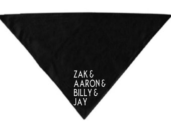 Ghost Adventures Zak Aaron Pet Bandana Scarf Cat Dog Clothes Horror Halloween Accessories Merch Massacre