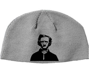 Edgar Allen Poe Raven Tell Tale Heart Gothic Literature  Beanie Knitted Hat Cap Winter Clothes Horror Merch Massacre Christmas Black Friday