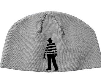 Freddy Krueger Nightmare on Elm Street Robert Englund Beanie Knitted Hat Cap Winter Clothes Horror Merch Massacre Christmas Black Friday
