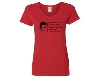 It's Always Sunny in Philadelphia Dennis Reynolds System Funny LOL Ladies V Neck Shirt Clothes Many Sizes Colors Custom Merch Massacre