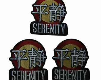 """Set of 3 Firefly Serenity Security Logo 3"""" Wide Embroidered Iron on Patch Supplies Merch Massacre"""