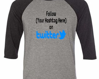 Social Media Twitter Follow # Hashtag @ Instagram Snapchat Funny Comedy Baseball Raglan 3/4 Sleeve T Shirt Unisex Clothes Merch Massacre