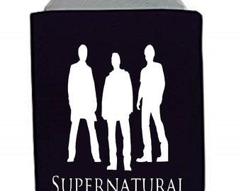 Supernatural Sam Dean Winchester Horror Halloween Horror Can Cooler Sleeve Bottle Holder Merch Massacre