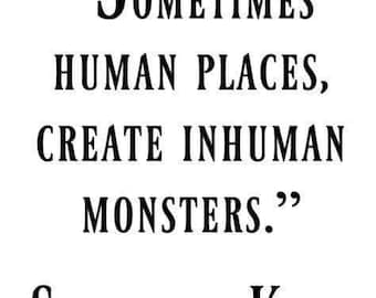 Human Monsters Stephen King Quote Horror Vinyl Car Decal Bumper Window Sticker Any Color Multiple Sizes