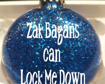 Ghost Adventures Zak Aaron Paranormal Investigator Supernatural Glitter Christmas Ornament Glass Disc Holiday Horror Merch Massacre
