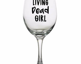 Living Dead Girl Zombie Drinking Horror Pint Wine Glass Tumbler Alcohol Drink Cup Barware Halloween Scary Merch Massacre