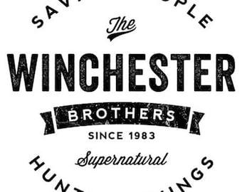 Supernatural Winchester Brothers Sam Dean Horror Vinyl Car Decal Bumper Window Sticker Any Color Multiple Sizes Halloween Merch Massacre