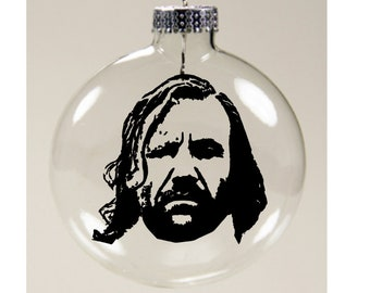 The Hound Game of Thrones Christmas Ornament Glass Disc Holiday Horror Black Friday Merch Massacre