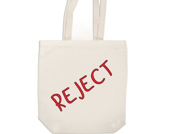 Reject Horror Canvas Tote Bag Market Pouch Grocery Reusable Merch Massacre Black Friday Christmas