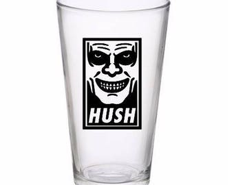 Hush Buffy the Vampire Slayer Halloween Wine Pint Glass Tumbler Alcohol Drink Cup Barware Merch Massacre