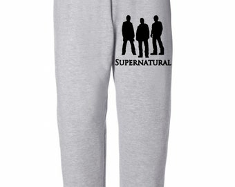 Supernatural Winchester Brothers Sam Dean Horror Sweatpants Lounge Pajama Comfortable Comfy Unisex Kids Youth Clothes Merch Massacre