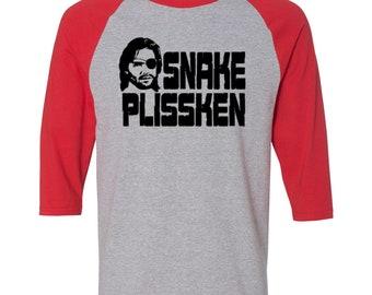 Escape From New York Snake Plissken Sci Fi Action Horror Los Angeles Baseball Raglan 3/4 Sleeve T Shirt Unisex Clothes Merch Massacre