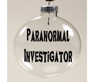 Paranormal Investigator Ghost Hunting Christmas Ornament Glass Disc Holiday Horror Merch Massacre