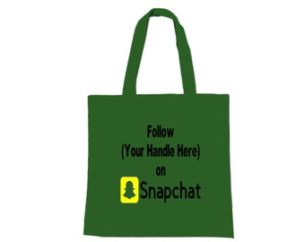 Social Media Snapchat Hashtag Follow # @ Instagram Twitter Custom Funny Canvas Tote Bag Market Pouch Merch Massacre Black Friday Christmas