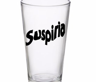 Suspiria 80's Italian Horror Pint Wine Glass Tumbler Alcohol Drink Cup Barware Halloween Merch Massacre