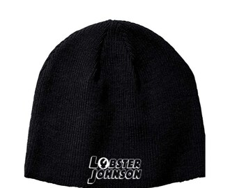 Hellboy Lobster Johnson BPRD Paranormal Research Defense Beanie Knitted Hat Cap Winter Clothes Horror Merch Massacre Christmas Black Friday