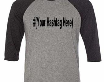 Social Media # Hashtag @ Instagram Twitter Snapchat Funny Comedy Baseball Raglan 3/4 Sleeve T Shirt Unisex Clothes Merch Massacre