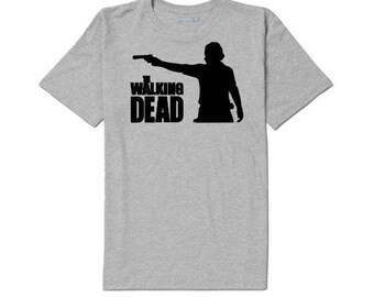 The Walking Dead Rick Zombie Unisex T Shirt Many Sizes Colors Custom Horror Halloween Merch Massacre