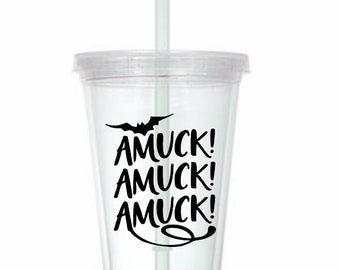 Amuck Amuck Amuck Hocus Pocus Witch Horror Tumbler Cup Gift Home Decor Gift for Her Him Any Color Personalized Custom