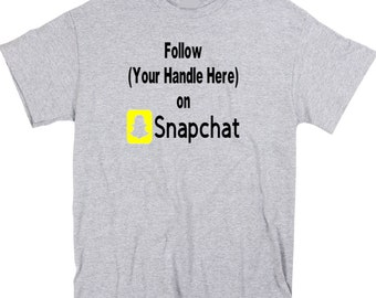 Social Media Snapchat Follow Hashtag # @ Instagram Twitter YouTube Custom Funny T Shirt Clothes Many Sizes Colors Custom Merch Massacre