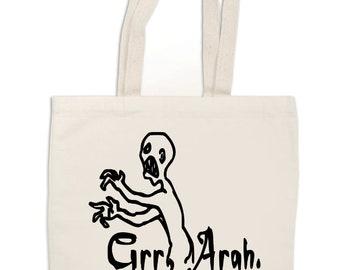 Grr Argh Mutant Enemy Whedon Buffy Vampire Slayer Canvas Tote Bag Market Pouch Grocery Reusable Halloween Merch Massacre Friday Christmas