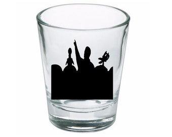 Mystery Science Theater 3000 MST3K Sci Fi Science Fiction Shot Glass Horror Halloween Drinking Bar Gift for Him Her Merch Massacre