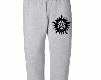 Supernatural Star Sam Dean Winchester Sweatpants Lounge Pajama Comfortable Comfy Unisex Kids Youth Clothes Merch Massacre