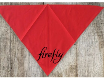 Firefly Serenity Joss Whedon Pet Bandana Scarf Cat Dog Clothes Horror Halloween Accessories Merch Massacre