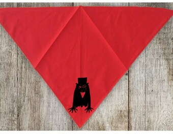 The Babadook Pet Bandana Scarf Cat Dog Clothes Horror Halloween Accessories Merch Massacre