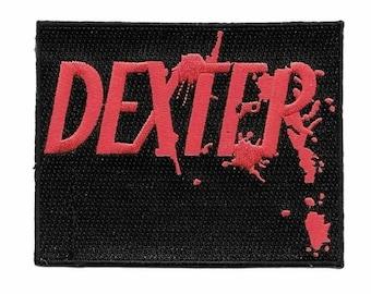 "Dexter Logo 4"" Wide Embroidered Iron on Patch Supplies Merch Massacre"
