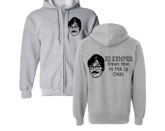 Ed Kemper Co-ed Killer Serial Coed True Crime Cannibal Funny LOL Hoodie Zip Up Sweatshirt Many Sizes Horror Halloween Merch Massacre