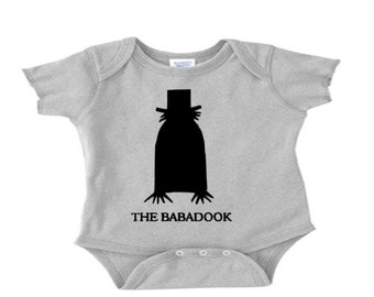 Babadook Infant Baby Kids Children Shirt Bodysuit Many Sizes Colors Custom Horror Halloween Merch Massacre
