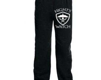 Night's Watch Game of Thrones GOT Crow Shield Jon Snow Sweatpants Lounge Pajama Comfortable Comfy Mens Womens Clothes Merch Massacre