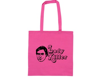Ted Bundy Ladies Man Serial Killer True Crime Unsolved Murder Horror Canvas Tote Bag Market Grocery Merch Massacre Black Friday Christmas