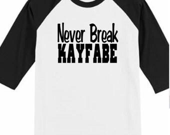 Pro Wrestling Never Break Kayfabe Funny Comedy Baseball Raglan 3/4 Sleeve Unisex T Shirt Clothes Wrestle Gear Athletic Merch Massacre