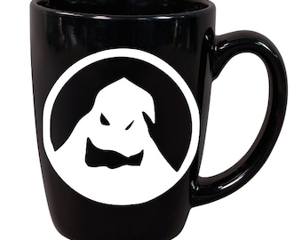Oogy Boogy Nightmare Before Christmas Horror Black Mug Coffee Cup Gift Home Decor Kitchen Bar Gift for Her Him Merch Massacre