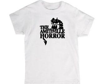 Amityville Horror T Shirt Kids Children Toddler Many Sizes Colors Custom Horror Halloween Merch Massacre