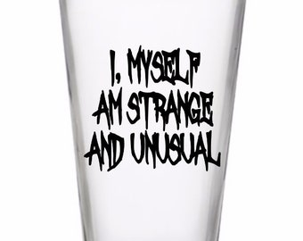 Strange and Unusual Beetlejuice Horror Pint Wine Glass Tumbler Alcohol Drink Cup Barware Halloween Merch Massacre