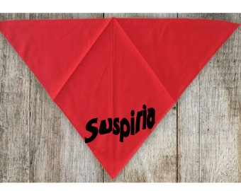 Suspiria 80's Italian Horror Pet Bandana Scarf Cat Dog Clothes Horror Halloween Accessories Merch Massacre