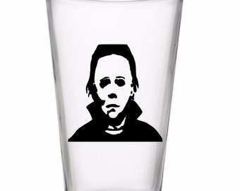 Michael Myers Horror Halloween Wine Pint Glass Tumbler Alcohol Drink Cup Barware Merch Massacre