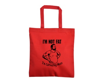 It's Always Sunny in Philadelphia Mac I'm Not Fat Attaining Mass Funny Quote Comedy LOL Canvas Tote Bag Market Grocery Merch Massacre