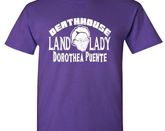 Dorothea Puente Death House Land Lady Serial Killer True Crime LOL Horror Unisex T Shirt Many Sizes Colors Custom Halloween Merch Massacre