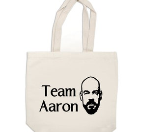Team Aaron Ghost Adventures Canvas Tote Bag Market Pouch Grocery Reusable Merch Massacre Black Friday Christmas