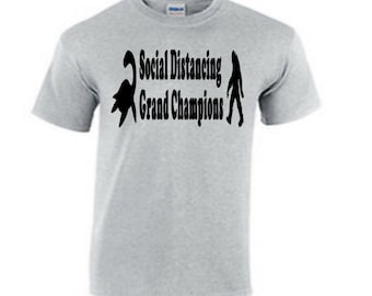 Social Distancing Grand Champions Bigfoot Loch Ness Nessie T Shirt Clothes Many Sizes Colors Horror Halloween Merch Massacre