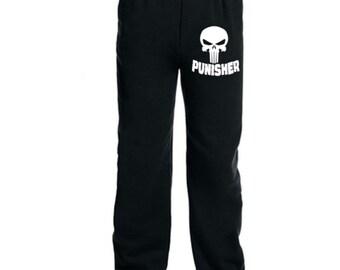 Punisher Skull Comic Book Books Superhero Sweatpants Lounge Pajama Comfy Unisex Kids Youth Clothes Merch Massacre