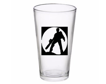 Evil Dead Ash Army of Darkness Horror Halloween Wine Pint Glass Tumbler Alcohol Drink Cup Barware Merch Massacre