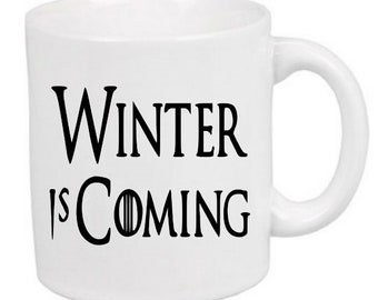 Winter is Coming Game of Thrones Horror Mug Coffee Cup Halloween Gift Home Decor Kitchen Bar Gift for Her Him