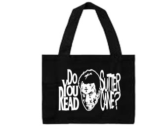 In the Mouth of Madness Do You Read Sutter Cane? Scary Sci Fi Canvas Tote Bag Market Pouch Grocery Reusable Christmas Merch Massacre