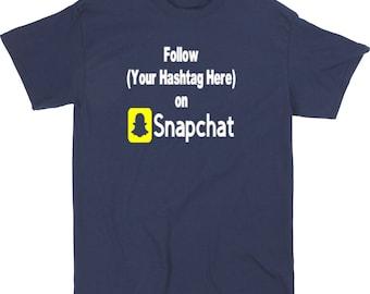 Social Media Snapchat Hashtag Follow # @  InstagramTwitter YouTube Funny LOL Kid Toddler Children T Shirt Sizes Colors Custom Merch Massacre